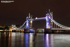 Tower Bridge, London UK (Nigel Blake, 13 MILLION...Yay! Many thanks!) Tags: city uk bridge light reflection london tower tourism thames night towerbridge river dark lights evening cityscape dusk reflected nighttime londonuk nigelblake nigelblakephotography