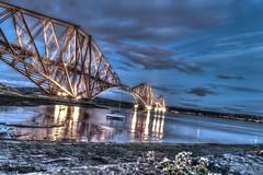 Forth Rail Bridge HDR (shadow_lafferty) Tags: bridge mountains walking outdoors scotland nikon edinburgh glasgow hill scottish railway forth dslr ufc hdr munro mma 2015 d5300 d7200 d7300