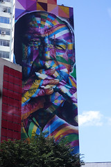 Art in the Paulista Avenue (marianaazzi) Tags: street blue brazil sky urban art love colors brasil digital canon cores photo colorful grafitti t3 dslr avenue paulista