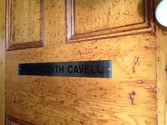 "End Door Name Plate from ex-VIA, ex-ex-CNR Sleeping Car ""Mount Edith Cavell"" (Jon Archibald) Tags: railroad sleeping car cn train railway canadian mount national pullman passenger standard edith sleeper cavell nameplate cnr"