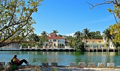 Have You Read A Good Book...Lately? (ACEZandEIGHTZ) Tags: nature wow nikon waterfront peaceful seawall serene relaxation miamibeach lifeisgood sunnyday mansions readingabook intracoastalwaterway slrcamera d3200 frameit bookreader buildyourrainbow niceasitgets