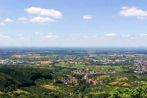 Vue sur Rittersbach depuis le sommet du château Alt-Windeck (alt. 378 m)