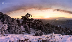 End of Solo Hiking (Lucas Janin | www.lucasjanin.com) Tags: arbre ciel cloud color couleur forest hiver ice landscape montagne mountain neige nuage orange outdoor panorama plant plante rock sky snow sunset tree winter idyllwild california usa fujifilm xf16mmf14rwr lucasjanin 16mm 24mm f80 xt1 ¹⁄₃₅sec iso200 lightroom lightroom6