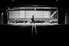 against the flow (jeff_tidwell) Tags: street streetphotography streetphoto candid blackandwhite woman walking parking garage