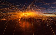 explode! (chocoorange) Tags: steel wool night pier