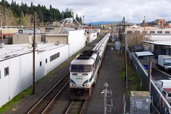 Back to the Barn (H-bob-omb) Tags: amtrak cascades train 505 emd f59phi locomotive amtk 467 talgo railroad eugene oregon