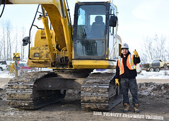 Torbin M (High Velocity Equipment Training) Tags: hvet highvelocityequipmenttraining camrose equipment heavyequipment heavyequipmentoperators operators equipmentoperator outdoor excavator komatsu construction oilandgas pipeline aboriginal oteenow safety snow machinery