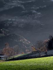 Andorra rural landscape: La Massana, Vall nord, Andorra (lutzmeyer) Tags: andorra anyos escas europe iberia iberianpeninsula lamassanaparroquia lutzmeyer parroquialamassana pirineos pirineus pyrenees pyrenäen vallnord autumn dorf herbst hivern iberischehalbinsel invierno lutzlutzmeyercom mfmediumformat november novembre noviembre ortsteil otono parroquia poble pueblo rural sonnenaufgang sortidadelsol sunrise tal tardor valley village winter lamassanavallnord immo