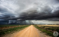 STORM DOWN THE ROAD - ECHUCA (Vaughan Laws Photography | www.lawsphotography.com) Tags: storms wallcloud base echuca victoria australia road canon storm stormchasing cell stormcell vaughanlaws vaughanlawsphotography lawsphotography landscape sky clouds