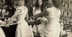 Tighten Up (~ Lone Wadi ~) Tags: prostitutes prostitution brothel bordello corsets indoors bedroom candid fashion retro 1890s 19thcentury victorian unknown