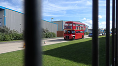 The View Through The Fence. (ManOfYorkshire) Tags: londontransport bus routemaster rm rm1449 1963 449clt red aldwarke rotherham southyorkshire preserved restored