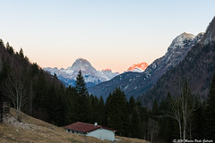 Sunset light on the Friulian mountains (Paolo Gabriele Maiero) Tags: friuli inverno italia luce montagne natura nikon vegetazione cristalli winter light shadows mountains mountain nature horizontal landscape panorama view home alps alpi trees sunset