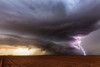 Pierced (Mike Olbinski Photography) Tags: 20160531 canon1635mm28l clouds farms hail lamesa lightning panoramic rain roads stormchasing sunset supercells texas thunderstorm