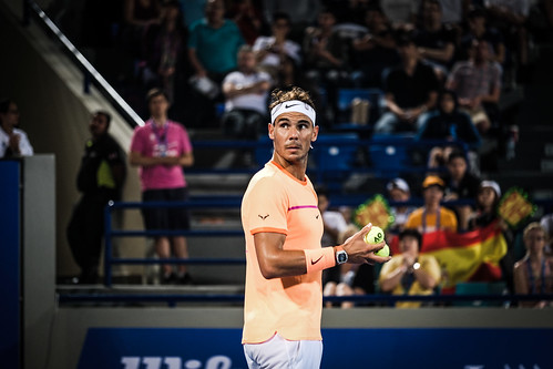 "Rafael Nadal challenges the umpire's call • <a style=""font-size:0.8em;"" href=""http://www.flickr.com/photos/125636673@N08/31990043205/"" target=""_blank"">View on Flickr</a>"