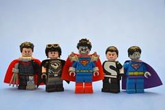 Supermen (th_squirrel) Tags: lego dc minifigs minifig minifigures minifigure superman supermen reign 52 new cyborg american alien doomed doomsday superdoom batman beyond bizarro lex luthor