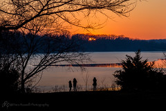Watching the Sunset (d_russell) Tags: sunset sun silhouette lake shawneemissionpark trees people water ice reflection 365the2017edition canon5dmarkiii ef24105mmf4