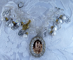 Virgin Mary and Baby Jesus Catholic Handmade Bracelet (inspirational) Tags: catholichandmadereligiousmedalscharmbracelet handcrafted catholicjewelry patronsaintsmedals italianmedals joyeriacatolica pulseracatolica hechaamano medallassantos medallascatolicas virginmary babyjesus freshwaterpearls