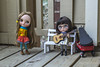 Stop and enjoy the music (Dolly Adventures in the Galland Household) Tags: blythe doll custom collectibles childhood cute miniatures miemadollhouse guitar bench wagon veryvicky very vicky dollphotography dollartistry toys