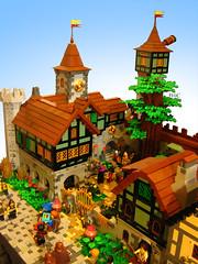 Academia of Gramfeste (Wochenender) Tags: brick time lego academia magic mage tree castle soldier cave knight house timber gramfeste chrono caldera