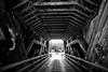 Strayed Above the Highway Aisle (Thomas Hawk) Tags: america bertasranchcoveredbridge california eureka humboldtcounty northerncalifornia usa unitedstates unitedstatesofamerica bridge bw coveredbridge fav10 fav25 fav50 fav100