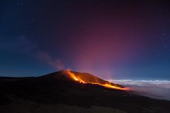 Fire on the mountain (JulGlouton) Tags: volcan volcano volcanic fire lava magma night nightscape stars starlight réunion reunionisland pitondelafournaise worldheritage éruption eruption