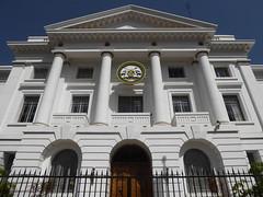 City Hall entrance (prondis_in_kenya) Tags: nairobi kenya hotdryseason cityhall building entrance slogan logo window shaurikwauaminifu landmark