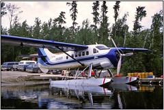 SCAN2017138FL (Gerry McL) Tags: canada ontario northern nakina outpost camps air service dehavilland dhc3 otter seaplane floatplane cfmiq