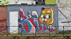 Rizon Parein & Bué the Warrior / Achtervisserij - 7 juni 2015 (Ferdinand 'Ferre' Feys) Tags: streetart graffiti belgium belgique bue belgië urbanart graff ghent gent gand graffitiart arteurbano artdelarue bué urbanarte rizonparein buéthewarrior