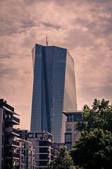 ECB (Niklas W.) Tags: city tower clouds canon germany deutschland eos europa europe day outdoor frankfurt eu bank east german turm bigcity ecb ffm ezb osthafen