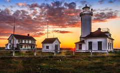 Point Wilson Lighthouse (davecurry8) Tags: sunset lighthouse washington fortworden porttownsend pugetsound admiraltyinlet pointwilson ptwilson