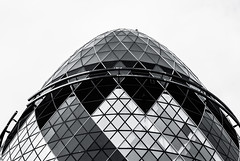 Egg Topper (Skuggzi) Tags: city uk england blackandwhite bw abstract building london geometric window glass monochrome metal architecture modern skyscraper design office triangle europe pattern unitedkingdom britain outdoor geometry steel symmetry dome highrise gb hightech curved iconic futuristic cityoflondon megacity
