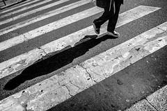 Crossing Lines and Urban Shadows (Cedric Doux) Tags: blackandwhite paris france shadows noiretblanc voigtlander streetphotography iledefrance fra photoderue crossinglines urbanshadows voigtlander21mm publiflickr