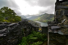 A room with a view (PentlandPirate of the North) Tags: llynperis snowdonia gwynedd llanberis snowdon slate cottage house ruin derelict dinorwic quarry slatequarry northwales industrial dinorwig
