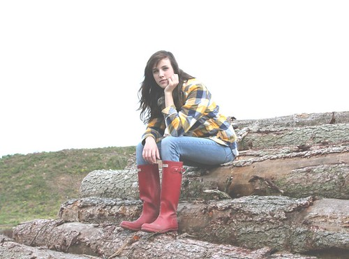 Girl Wearing Red Hunter Boots - a photo on Flickriver