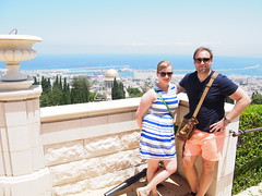 Hanging Gardens with views over Haifa and The meditteranean sea!