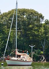 Sailing boat (teeleino) Tags: usa water lens boat nikon scenery sailing harbour colorfull maryland flags boating sail mm 1855 idyllic colourfull d3100