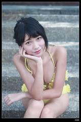 nEO_IMG_DP1U3209 (c0466art) Tags: school light portrait cute water girl yellow female canon high energy asia play outdoor good gorgeous young taiwan bikini figure lovely charming activity nima 1dx c0466art