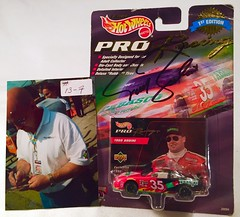 #13-7, Todd Bodine, Signing, Hot Wheels, 1998, Pro Racing, 1st Edition, NASCAR, #35, Tabasco, Red, BP (Picture Proof Autographs) Tags: 137 toddbodine signing hotwheels 1998 proracing 1stedition nascar 35 tabasco red bp withpictureproofphoto ppp