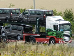 Photo of PJ12FKH L7614 Eddie Stobart Scania 'Felicity Dee' with Car Transporter trailer