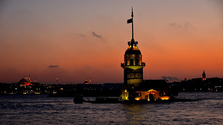 The Maiden's Tower- Historic Areas of Istanbul. Unesco