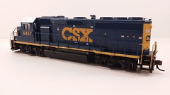 CSX - MOTHER (Road Slug Power Unit) #6457 Dark Future Paint Scheme (Prototype Painted around April 2010) - GP40-2 (Conductors Rear 3-4) - HO Scale - Atlas - July 29, 2015 - K. Crawley (dcmkris) Tags: atlas csx hoscale gp402 custompainted darkfuture roadslug mothermate