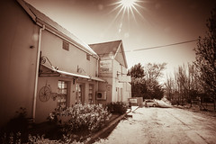 retro riebeeck kasteel6 (WITHIN the FRAME Photography(5 Million views tha) Tags: road sunlight tourism sepia architecture vintage country starburst westerncape riebeekkasteel eos6d 1635mmf4wideangle