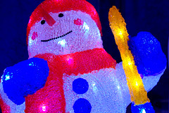 Bright Snowman (Tony Worrall) Tags: xmas christmas seasonal festive cold annual new buy sell gifts england northern uk update place location north visit area county attraction open stream tour country welovethenorth northwest unitedkingdom bartongrange show display lights bright it