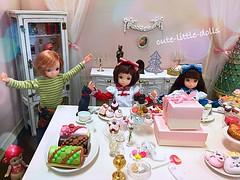 Merry Christmas!!! :D (cute-little-dolls) Tags: ruruko doll toy sonnyangel minifigure miniature cake dollhouse party christmas happy