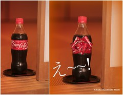 Coca Cola ~~~ Limited Edition In Japan  ^^ (charles fukuyama) Tags: ribbon bottle christmas gift ideas red party drink unique holidays kikuike