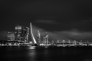 Erasmus bridge by night!