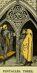 Three of Pentacles (~ Lone Wadi ~) Tags: tarot tarotcard blackmagic occult sorcery retro 1910s fortunetelling magic