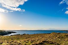 Landscape (torlind54) Tags: haugesund 2016 tormod lindøe kvalsvik rogaland norway landscape sky clouds sea green yellow field