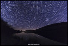 Star trails over Talybont reservoir (Thomas Winstone) Tags: star trails talybont reservoir startrails talybontreservoir ef1124mmf4lusm canon canonuk landscape outdoors nature countryside outdoor 3lt 3leggedthing night nightsky nightscapes nightscape breconbeacons breconbeaconsnationalpark bbc wales water welsh