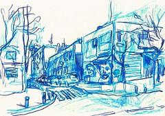 CALLE MELCHOR FERNÁNDEZ ALMAGRO- BARRIO DEL PILAR- MADRID (GARGABLE) Tags: barriodelpilar angelbeltrán apuntes drawings dibujos calles gargable gente coches árboles parquenorte melchorfernandezalmagro